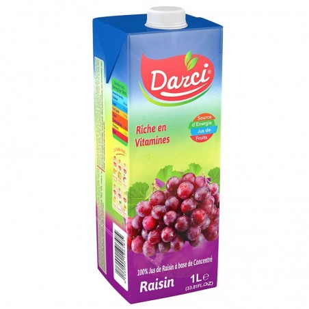 darci - jus de raisin - 1l