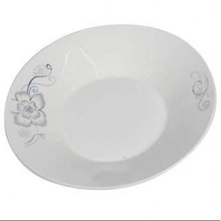Assiette creuse en porcelaine blanc