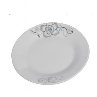 Assiette dessert plate en porcelaine blanc