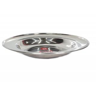 Assiette plate en inox – 22cm