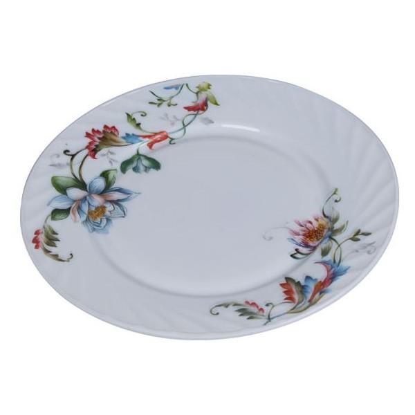 Assiette plate en porcelaine blanc