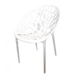 Chaise en plastique – blanc