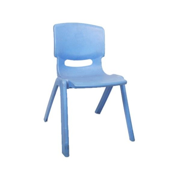 Chaise en plastique pour enfant Bleu