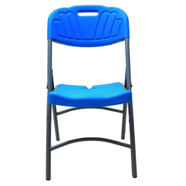 Chaise pliante plastique et métal – Bleu
