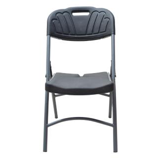 Chaise pliante plastique et métal  Noir