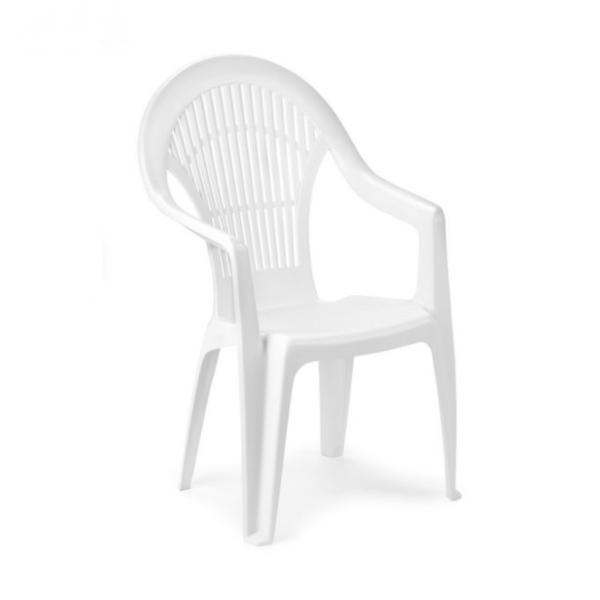 pro garden vega chaise blanche