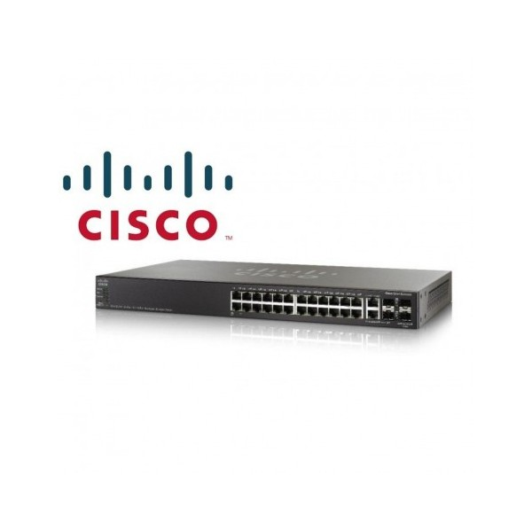SWITCH 28 PORTS - CISCO - MANAGEABLE - SG350-28P