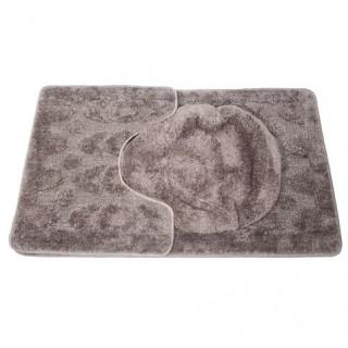 Ensemble tapis de bain et contour WC 70X45 Cm