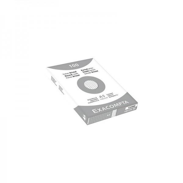 FICHE BRISTOL A4 BLANCHE Q5 S/ETUI PAQUET 100