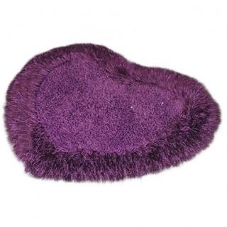 Tapis Forme de Coeur Moquette Intérieure Salon-Violet