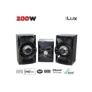 Ilux Mini Chaine Bluetooth 200W - Karaoké - USB - Noir