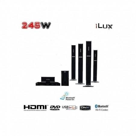 Ilux Home Cinema Bluetooth - 245W - Karaoké - Radio FM - HdmiUsb - Noir