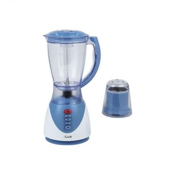 Ilux Blender & Grinder LX-1731 - 2 En 1 - 1.5 L - 3 Vitesses - Blanc Bleu