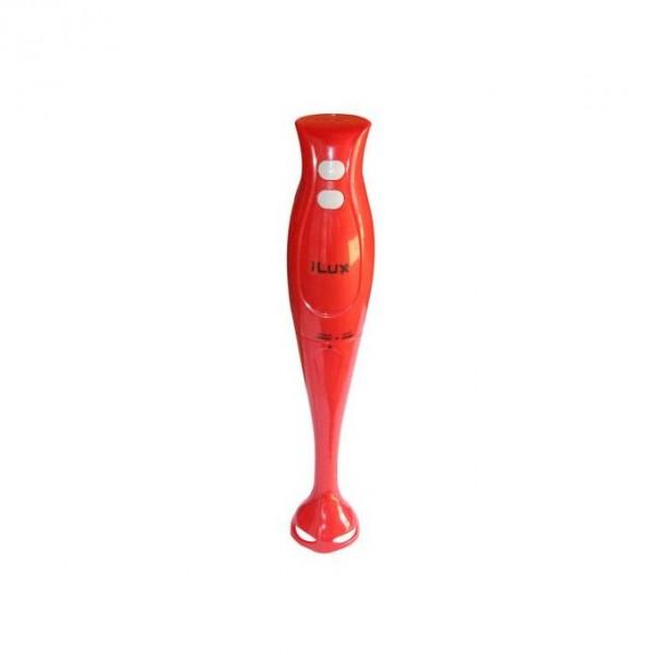 Ilux Mixeur à Main EK-HB02 - 250 W - Moteur Puissant - 2 Vitesses - Rouge