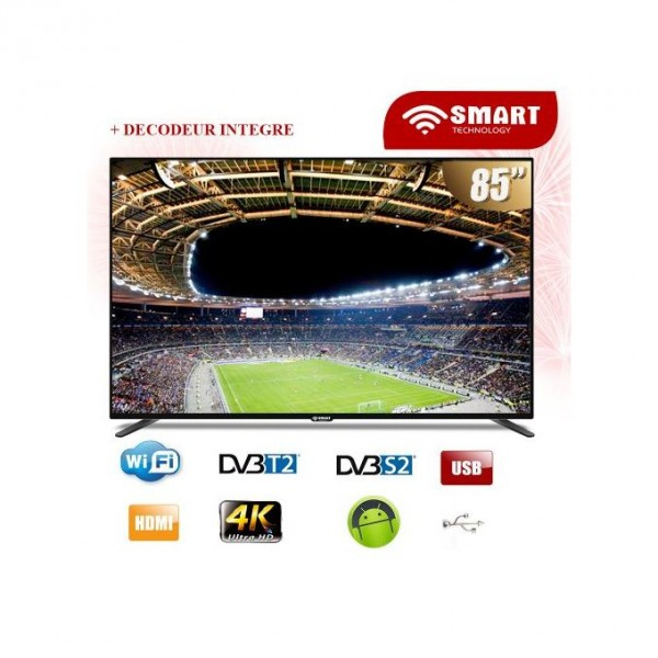 SMART TECHNOLOGY SMART TV LED - 85 Pouces -STT-9085S