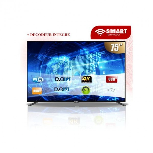 SMART TECHNOLOGY SMART TV LED- 75 Pouces - STT-9075S