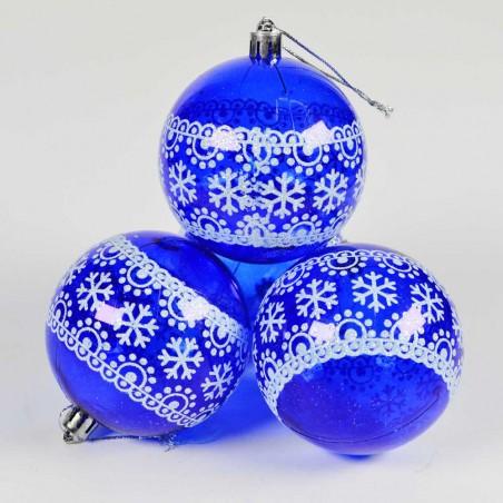 Boule de Noël pour sapin- Lots de 4 boules – Bleu 3