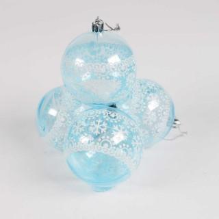 Boule de Noël pour sapin- Lots de 4 boules – Bleu 2