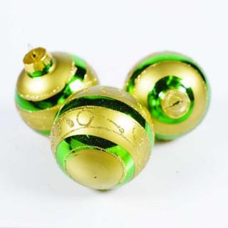 Boule de Noël pour sapin- Lots de 6 boules – Vert