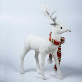 Renne blanc – 20 cm-décoration de noël