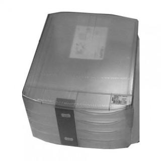 CLASSEUR BOX TRANSLUCIDE 4 GRANDS TIROIRS ASSORTIS