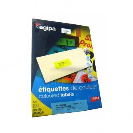 ETIQUETTE MULTI USAGES JAUNE 105x148.5 POCHETTES 400
