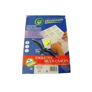 ETIQUETTE BLANCHE MULTI-USAGE A4. 105*99MM ETUI DE 100