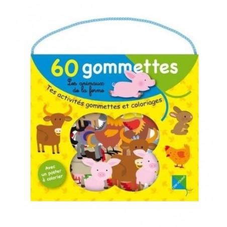 GOMMETTES ANIMAUX FERMES 166 216
