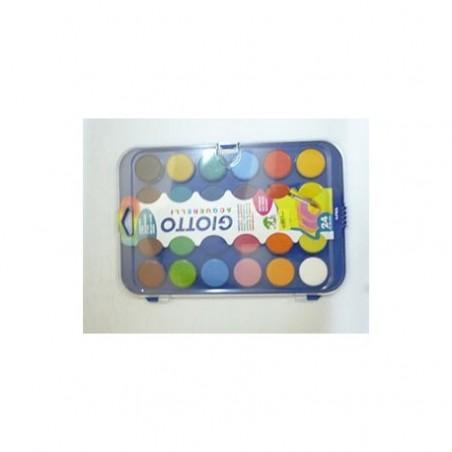 gouache 24 pastille 30mm+pinceau