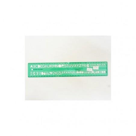 normographe 30cm lettre 10mm