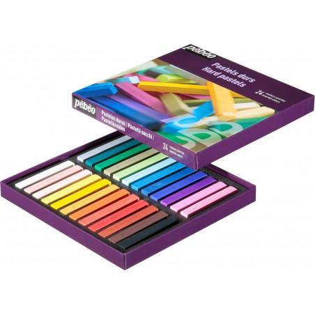 pastel durs 24 couleursassorties