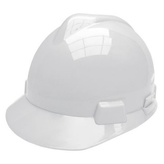 Casque De Chantier Blanc En Abs